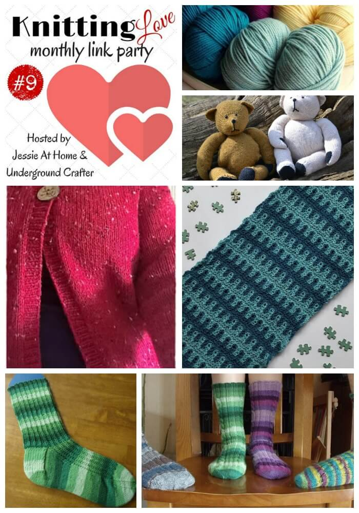Knitting Love Link Party #9 - May 2016 - Jessie At Home and Underground Crafter