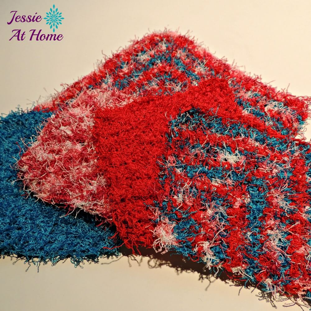 Angled Scrubby Washcloth In 2 Sizes Jessie At Home