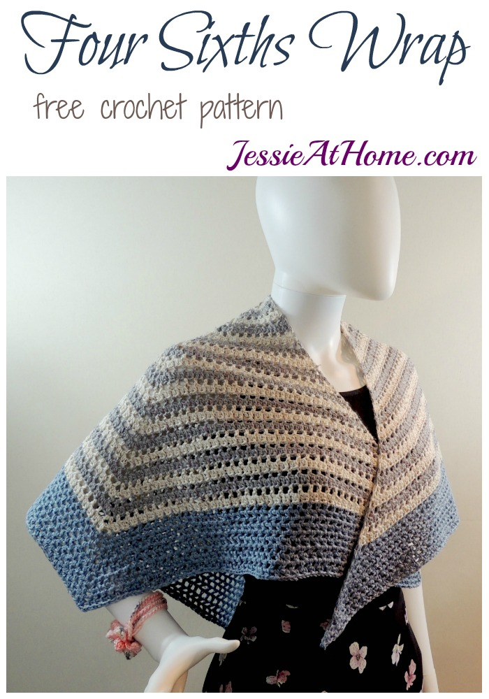Four Sixths Wrap - free crochet pattern by Jessie At Home