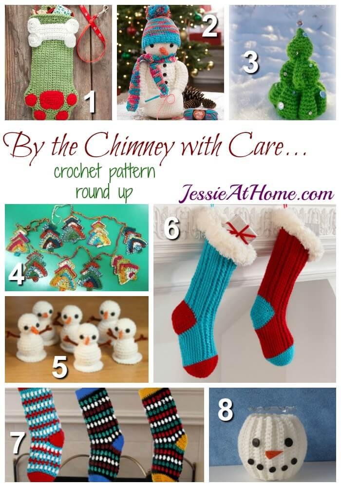 By the Chimney with Care - free crochet pattern round up from Jessie At Home