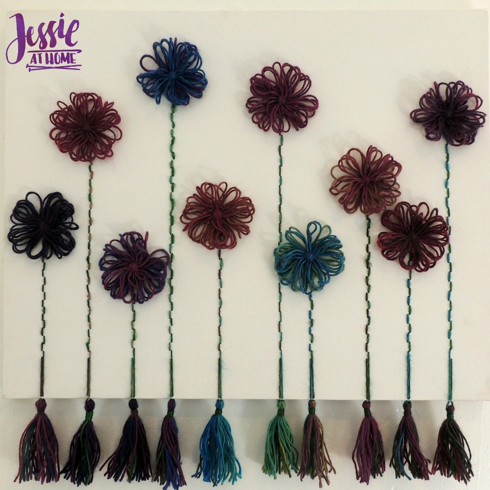 Flower Loom Canvas by Jessie At Home - free tutorial