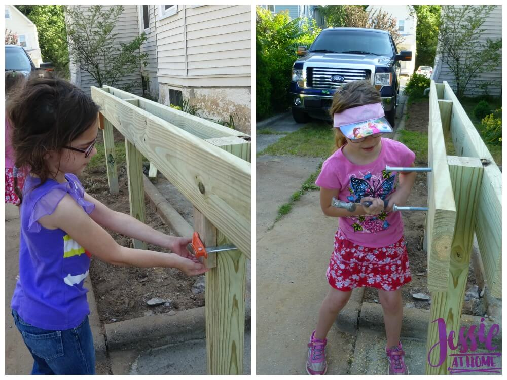 Helping build the deck