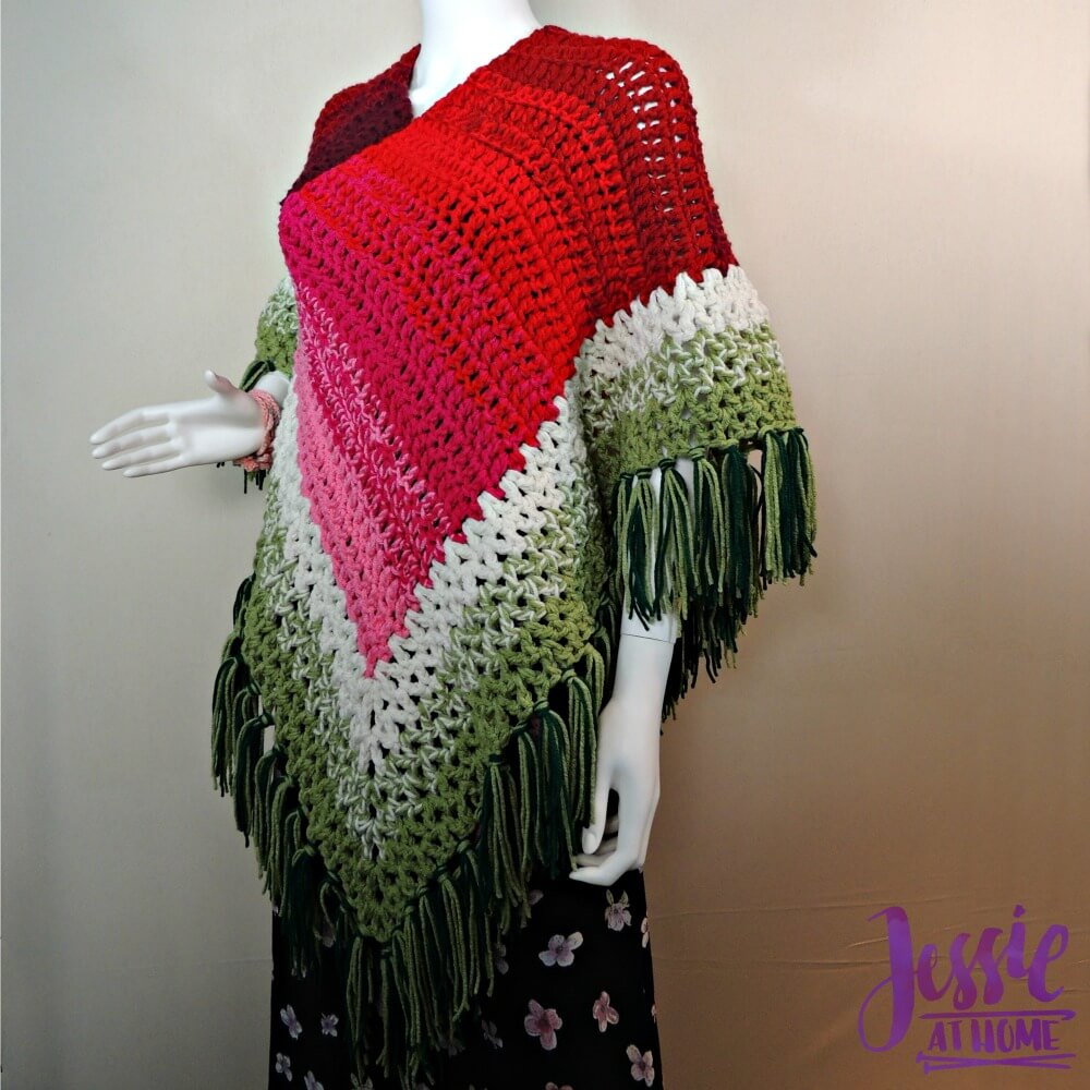 Holiday Poncho - free crochet pattern by Jessie At Home-1