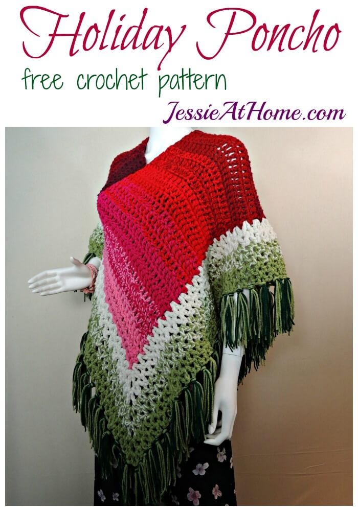 Holiday Poncho - free crochet pattern by Jessie At Home