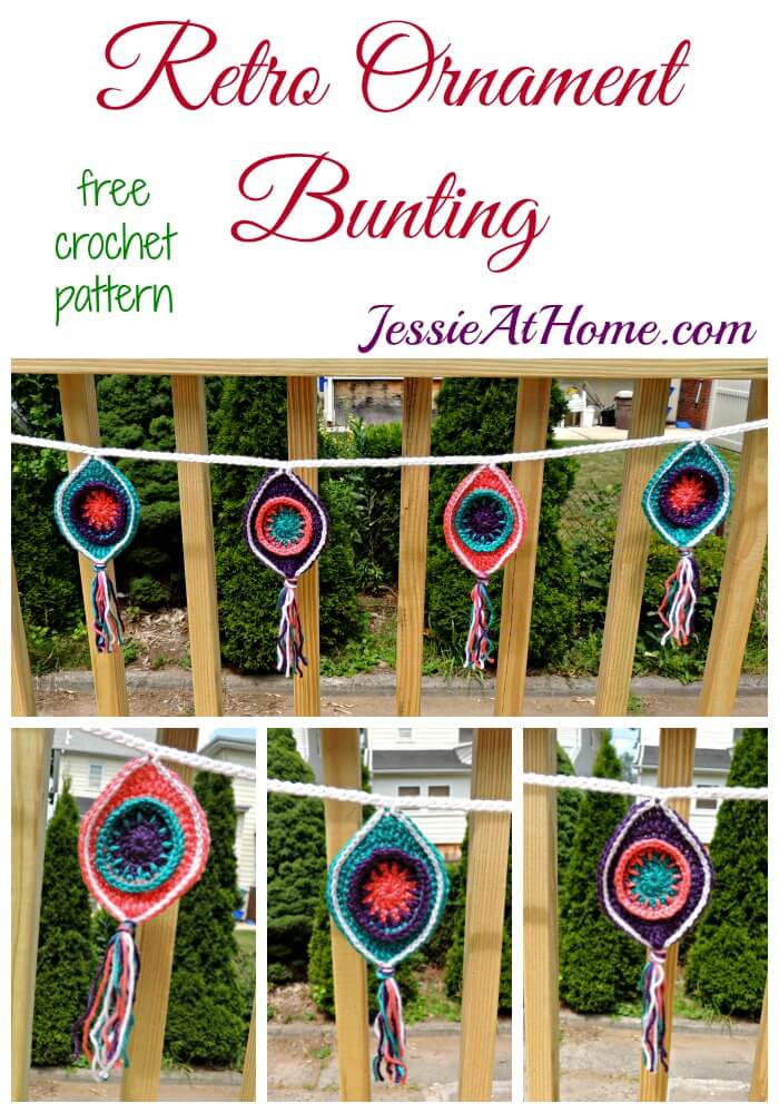 Retro Ornament Bunting - free crochet pattern by Jessie At Home