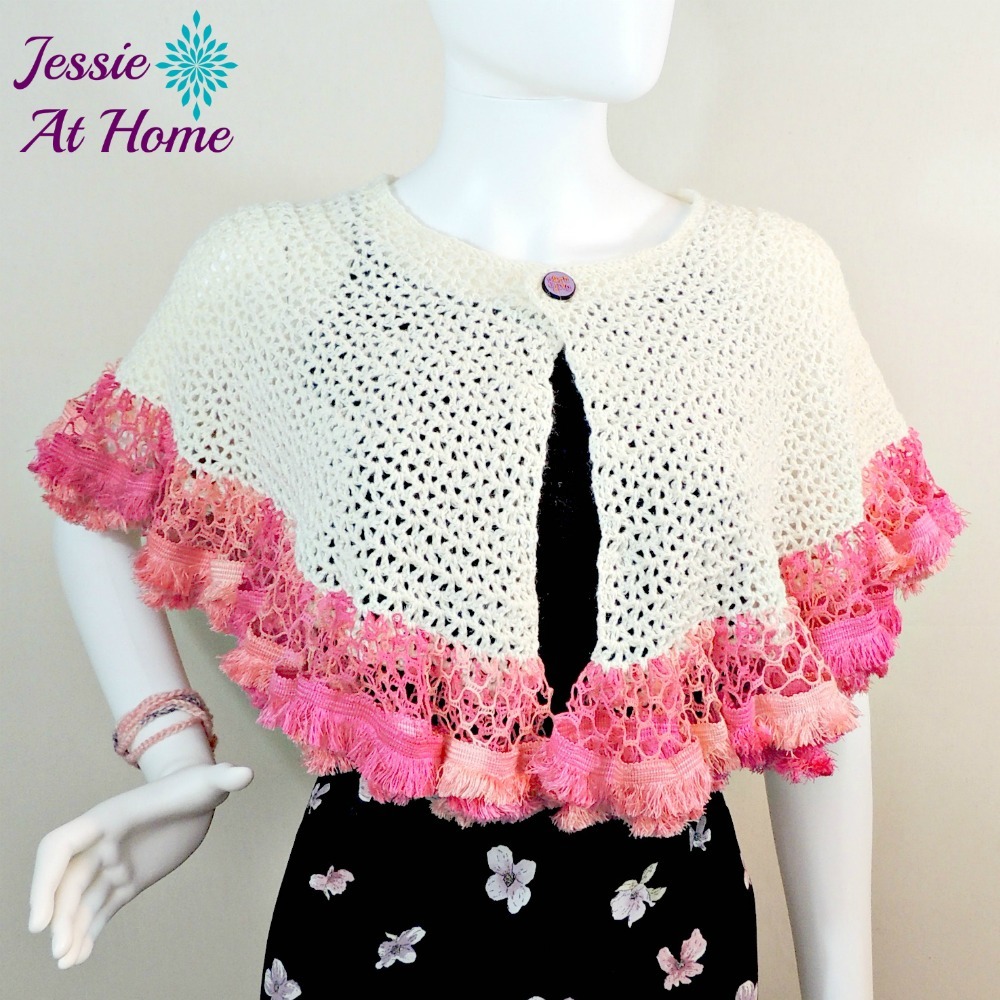 Winter White Sashay Capelet-free crochet pattern by Jessie At Home-4