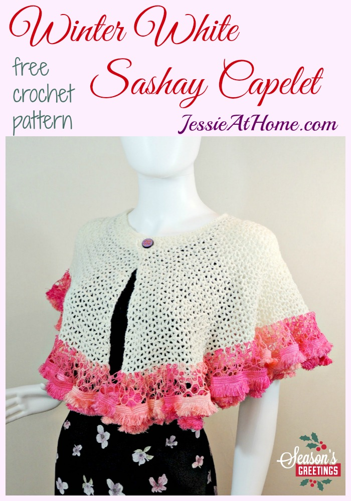 Winter White Sashay Capelet - Impress your holiday guests! | Jessie ...
