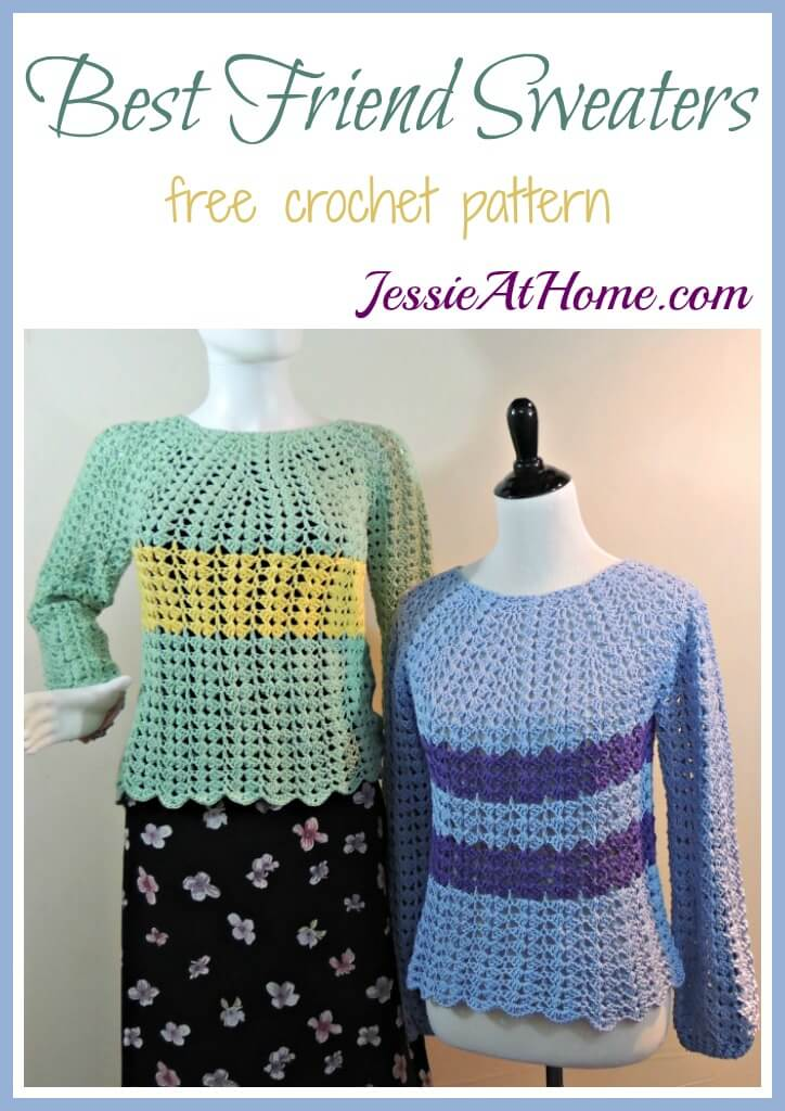 Best Friend Sweaters - free crochet pattern by Jessie At Home