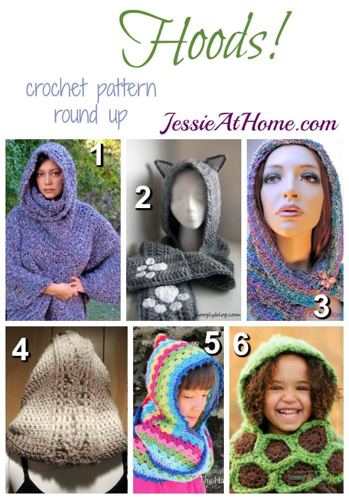 eceab0621199 Hoods - free crochet pattern round up from Jessie At Home