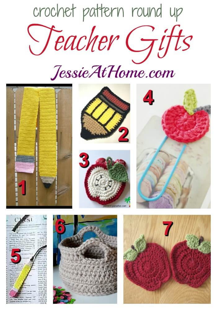 Teacher Gifts - free crochet pattern round up from Jessie At Home