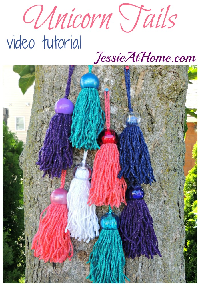 Unicorn Tails - Video Tutorial by Jessie At Home