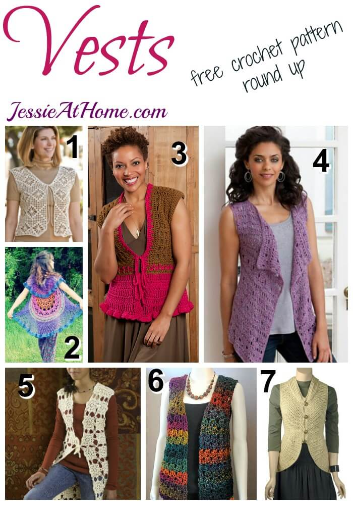 8dbed56a2a70 Vests - free crochet pattern round up from Jessie At Home