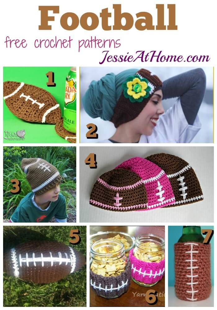 Football - free crochet pattern round up from Jessie At Home