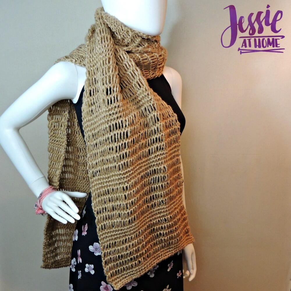 Glitter And Gleam Super Scarf A Free Tunisian Crochet Pattern