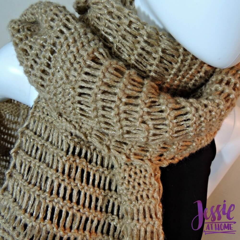 Glitter and Gleam - free Tunisian crochet pattern by Jessie At Home - 3
