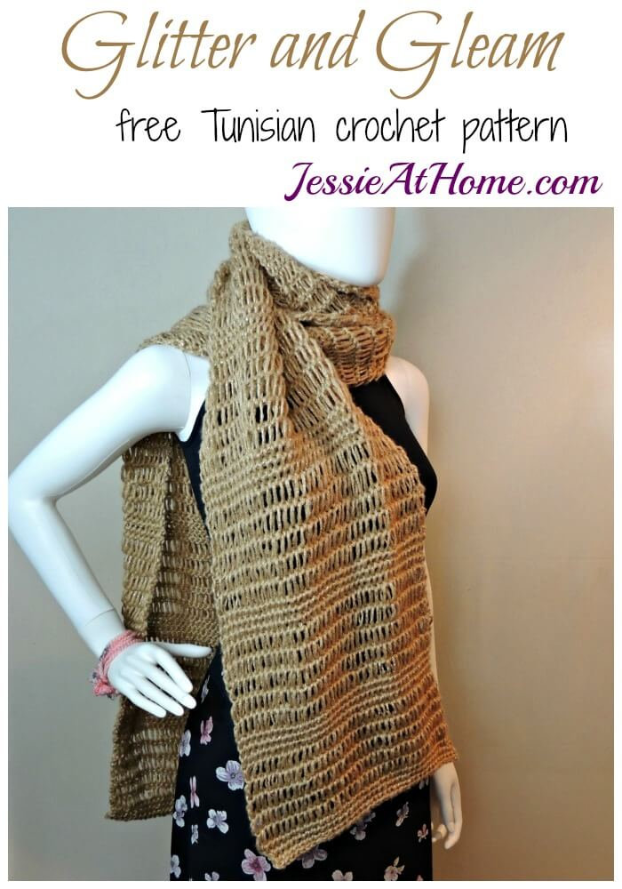 Glitter And Gleam Super Scarf A Free Tunisian Crochet Pattern