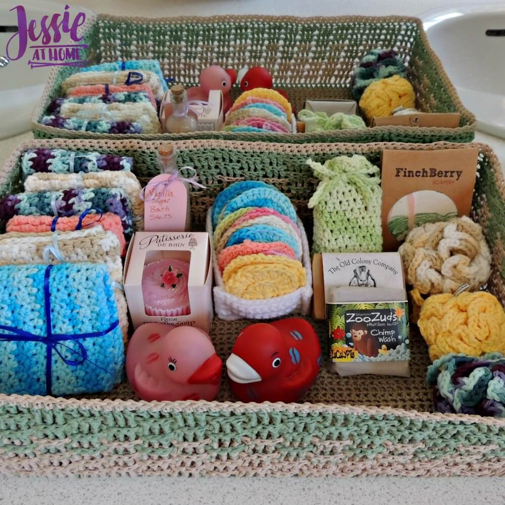 Spa Basket - free crochet pattern by Jessie At Home - 3