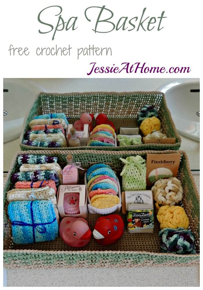 Spa Basket - free crochet pattern by Jessie At Home