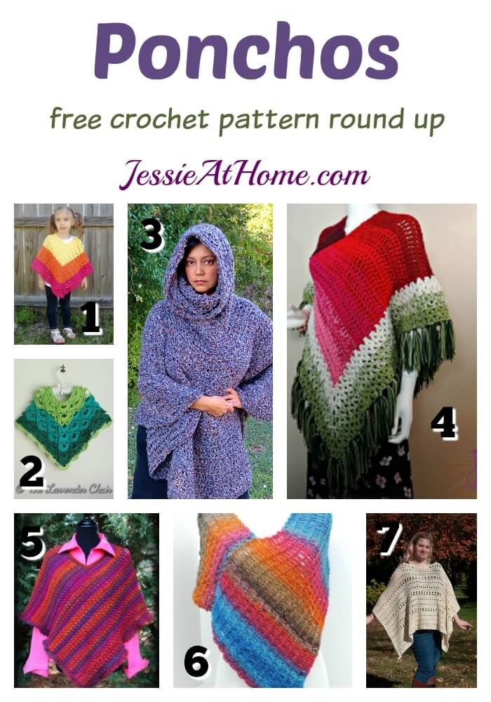 Ponchos Boho Chic Free Crochet Patterns Jessie At Home