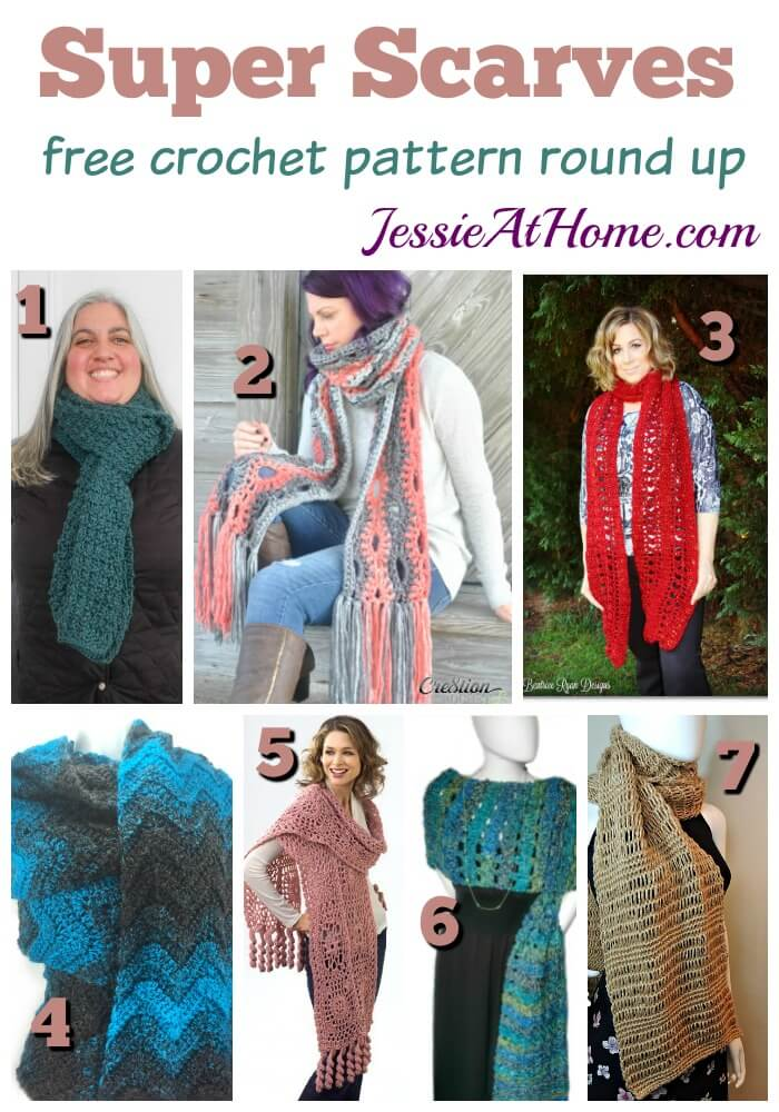Super Scarves Free Crochet Patterns For These Trendy Scarves