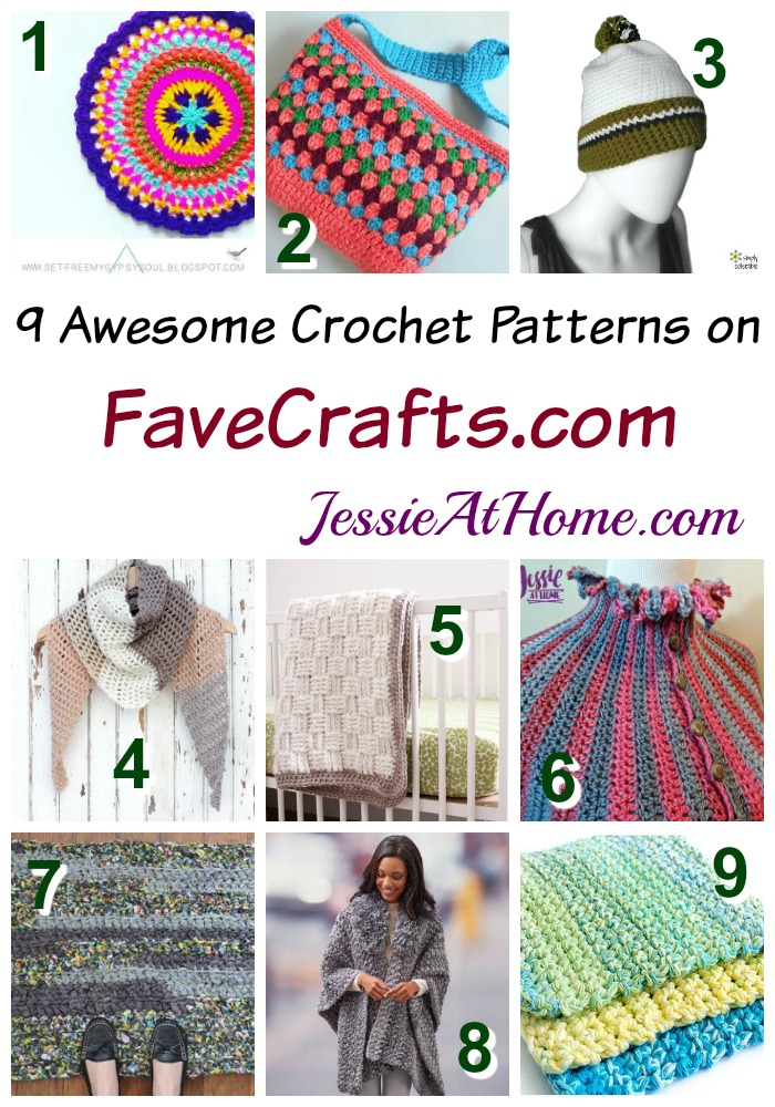 9 Awesome Crochet Patterns On Favecrafts Jessie At Home