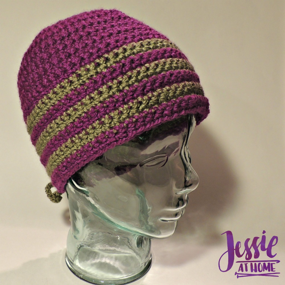 Laced Stripes - a free crochet hat pattern   Jessie At Home