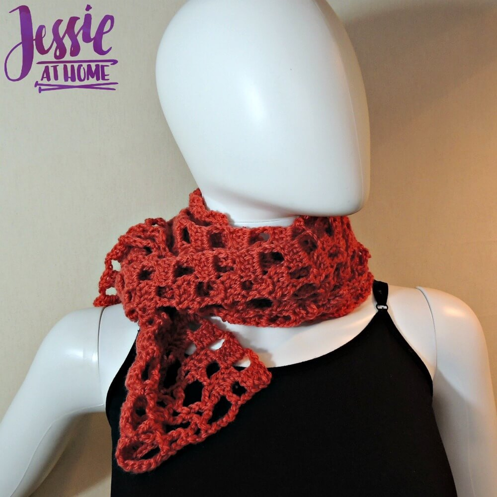 Trellis Scarf - free crochet pattern by Jessie At Home - 4