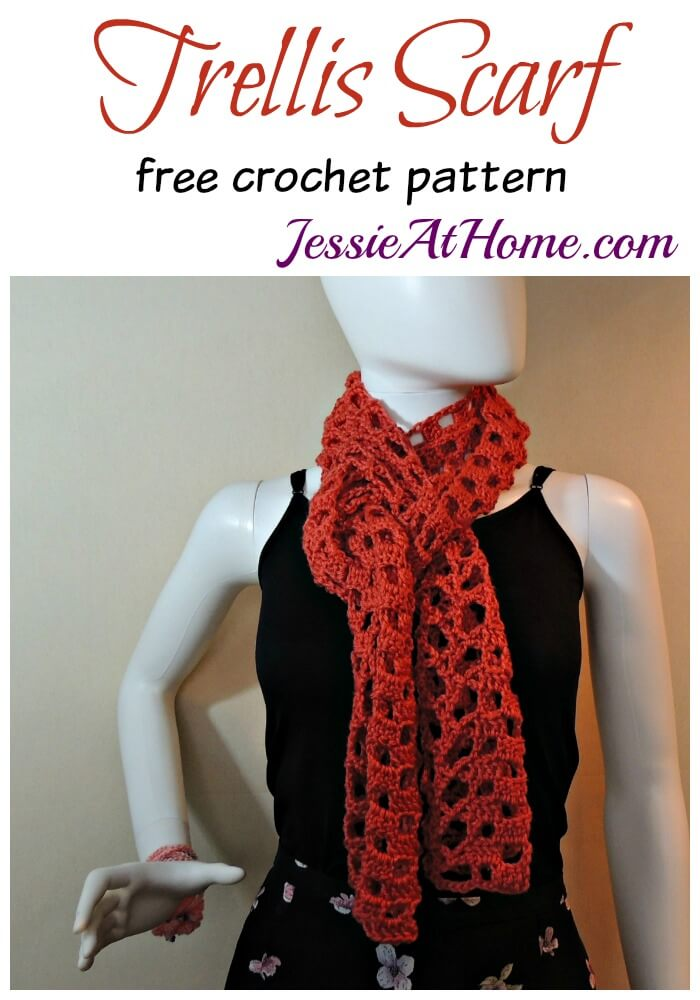 Trellis Scarf - free crochet pattern by Jessie At Home