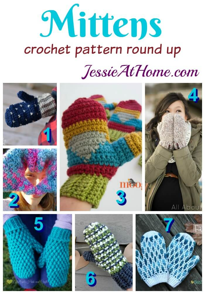 Mittens free crochet pattern round up from Jessie At Home