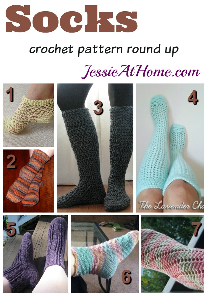 Socks - crochet to warm your toes! | Jessie At Home