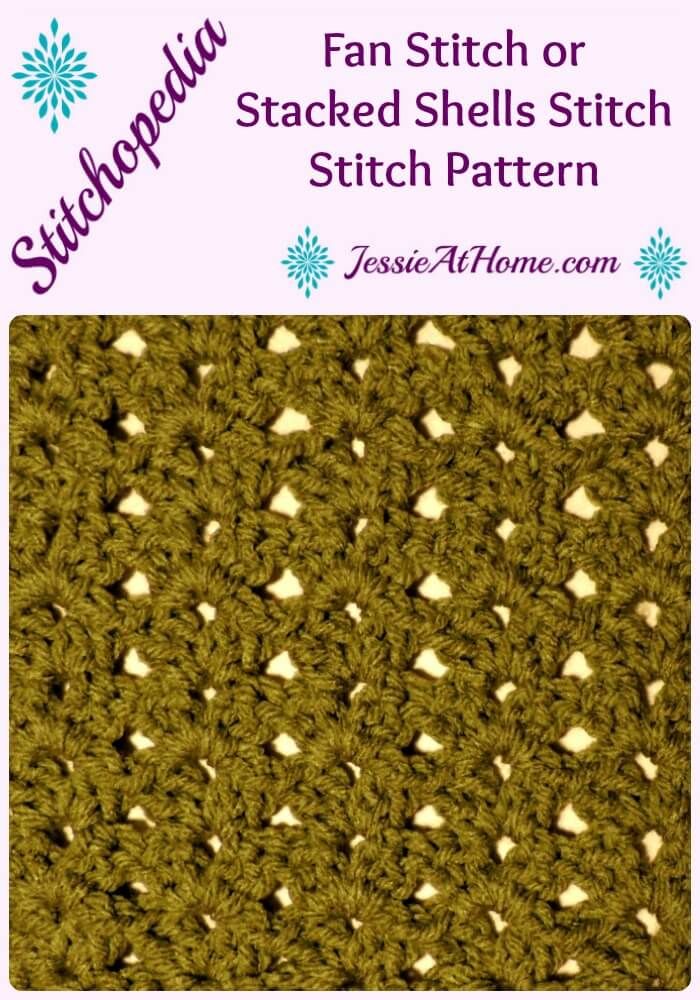 Stitchopedia Fan Stitch from Jessie At Home Pinterest