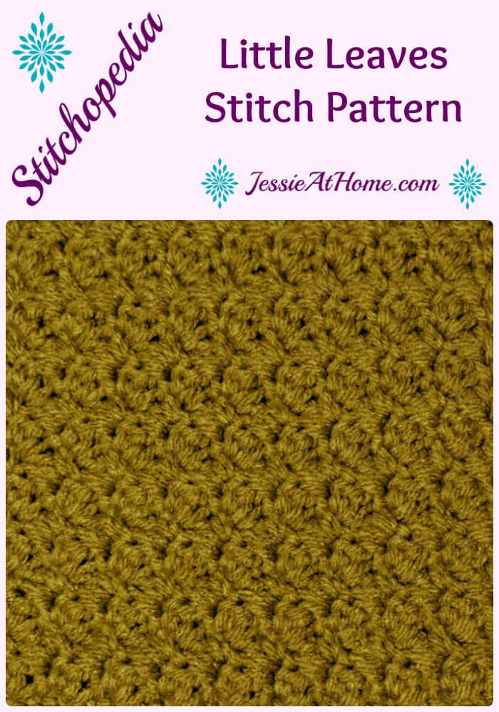 Stitchopedia Little Leaves Stitch from Jessie At Home Pinterest