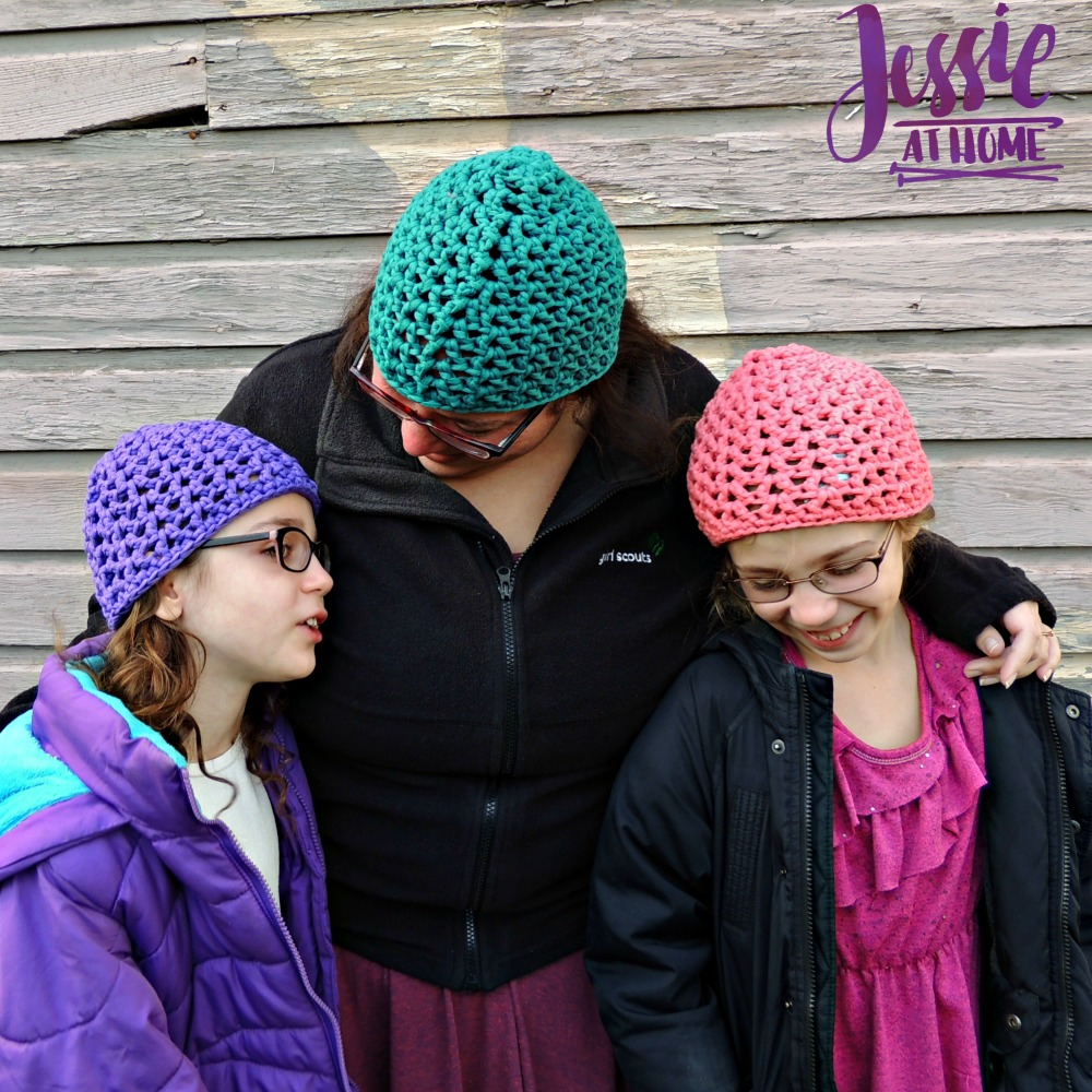 V-Stitch Hats free crochet pattern by Jessie At Home - 4