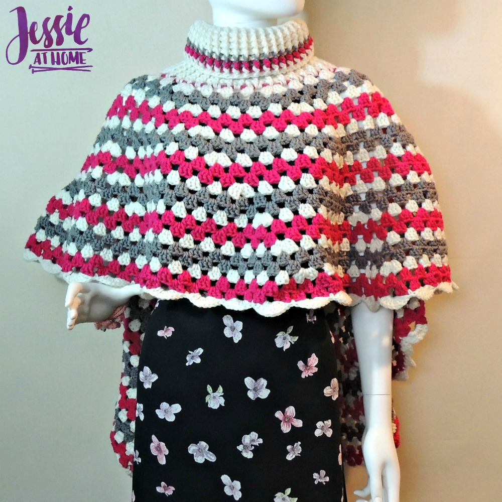 Circular Poncho - free crochet pattern by Jessie At Home - 2