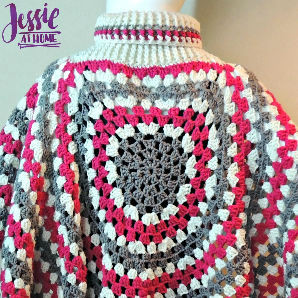 Circular Poncho - free crochet pattern by Jessie At Home - 4