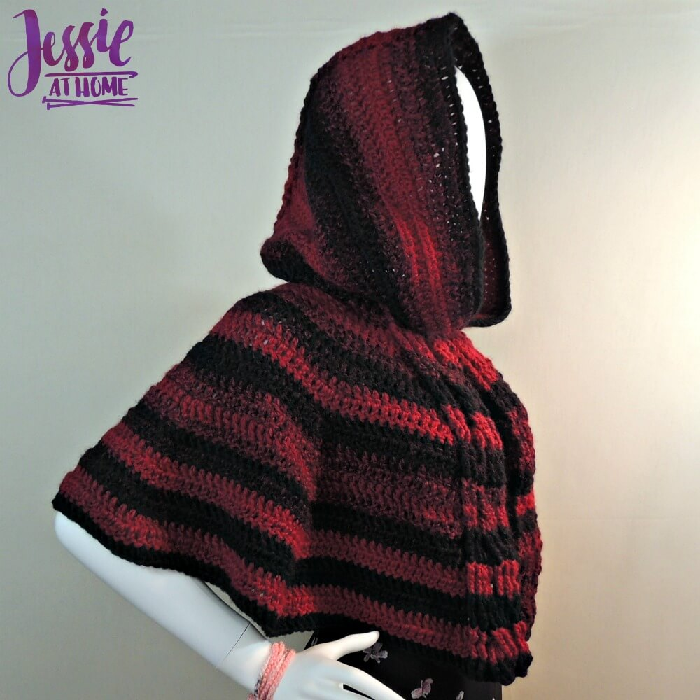 Hooded Cabled Cape free crochet pattern by Jessie At Home - 3