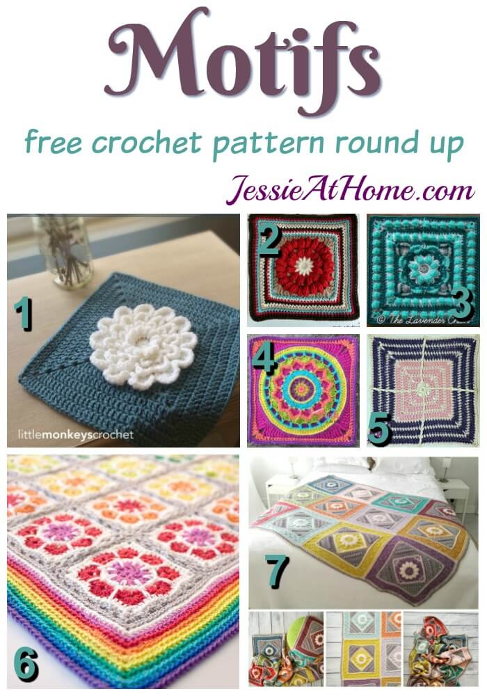 Free Crochet Motif Patterns Jessie At Home Fascinating Crochet Motif Patterns