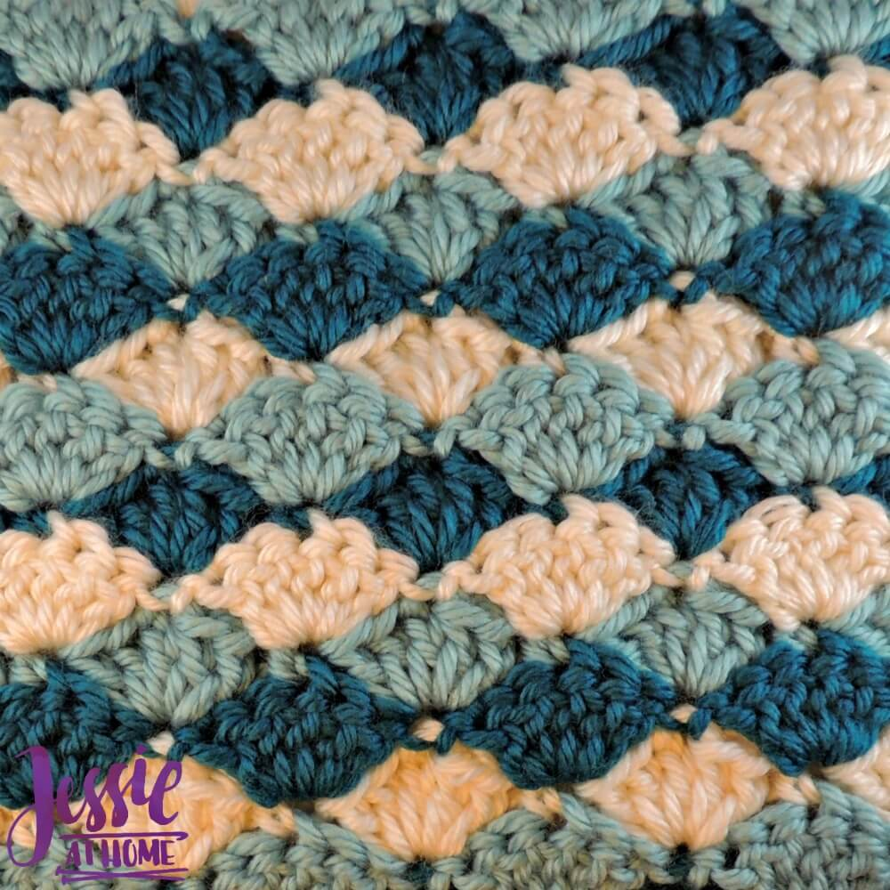Shell Stitch Baby Blanket free crochet pattern by Jessie At Home - 3