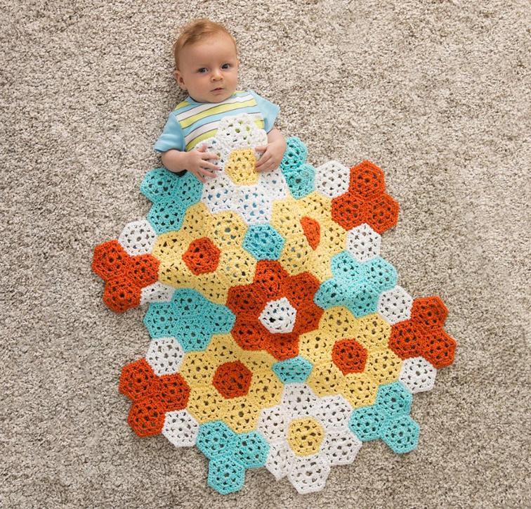 Springtime Stroller Blankie Craftsy Crochet Kit
