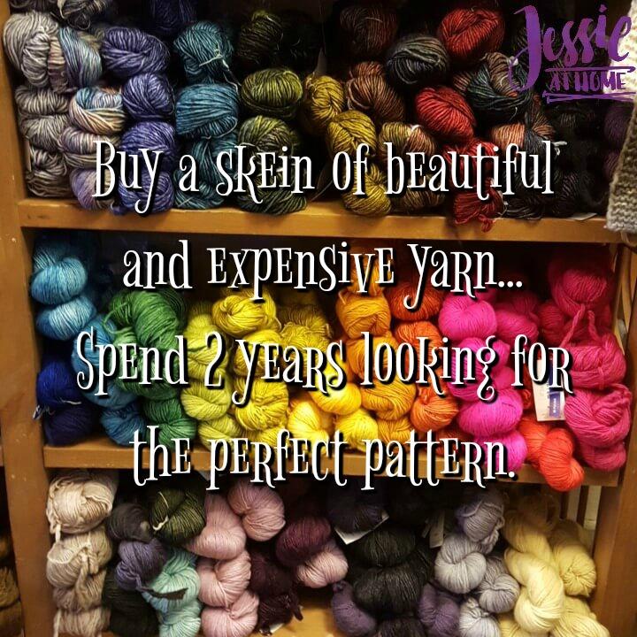 Beautiful yarn - perfect pattern