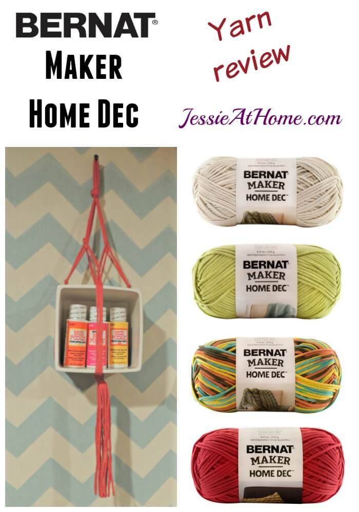 Bernat Maker Home Dec yarn review from Jessie At Home