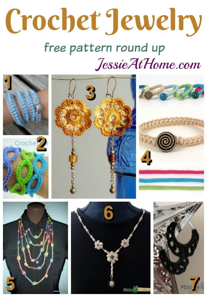 Crochet Jewelry free pattern round up from Jessie At Home