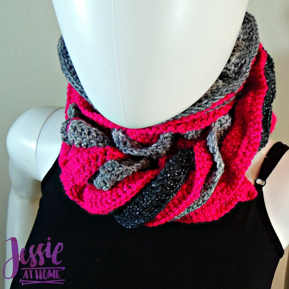 Glitter and Shine Scarf free crochet pattern by Jessie At Home - 4