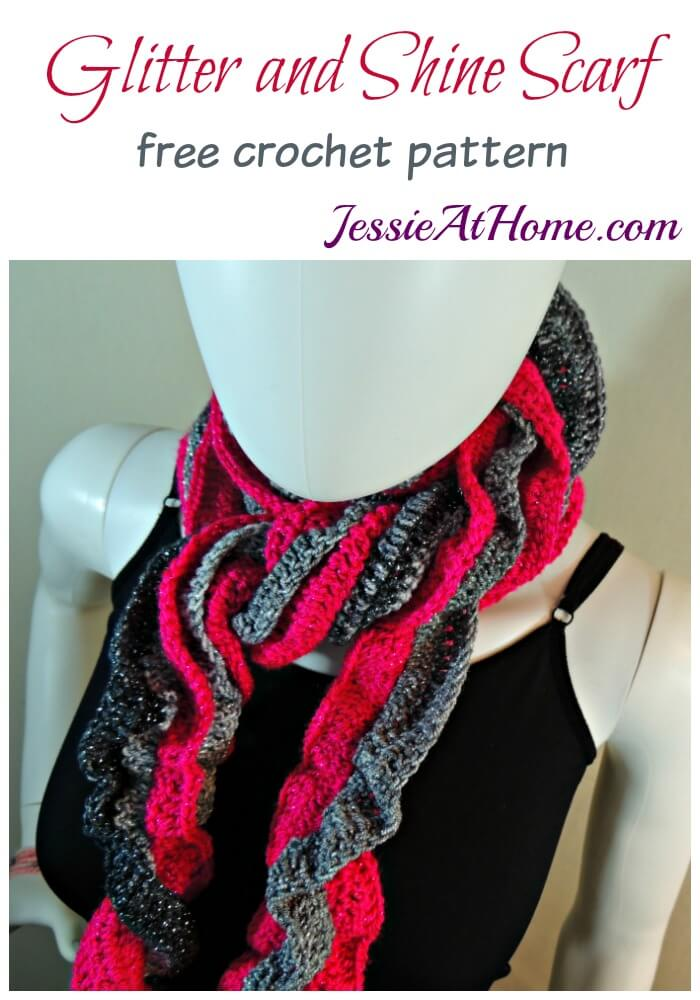 Glitter and Shine Scarf free crochet pattern by Jessie At Home