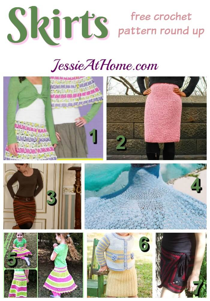 Skirts free crochet pattern round up from Jessie At Home