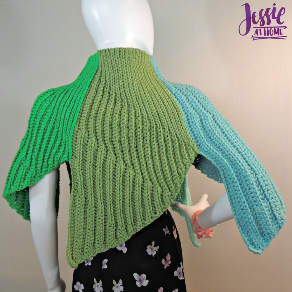 Fins Wrap free crochet pattern by Jessie At Home - 3