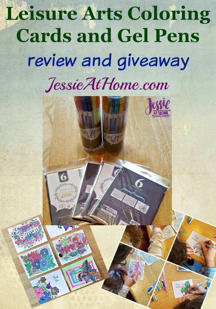 Leisure Arts Coloring Cards and Gel Pens review and giveaway from Jessie At Home
