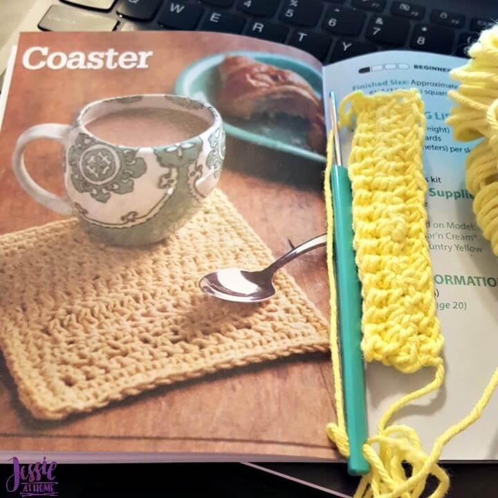 Making a loop crochet coaster