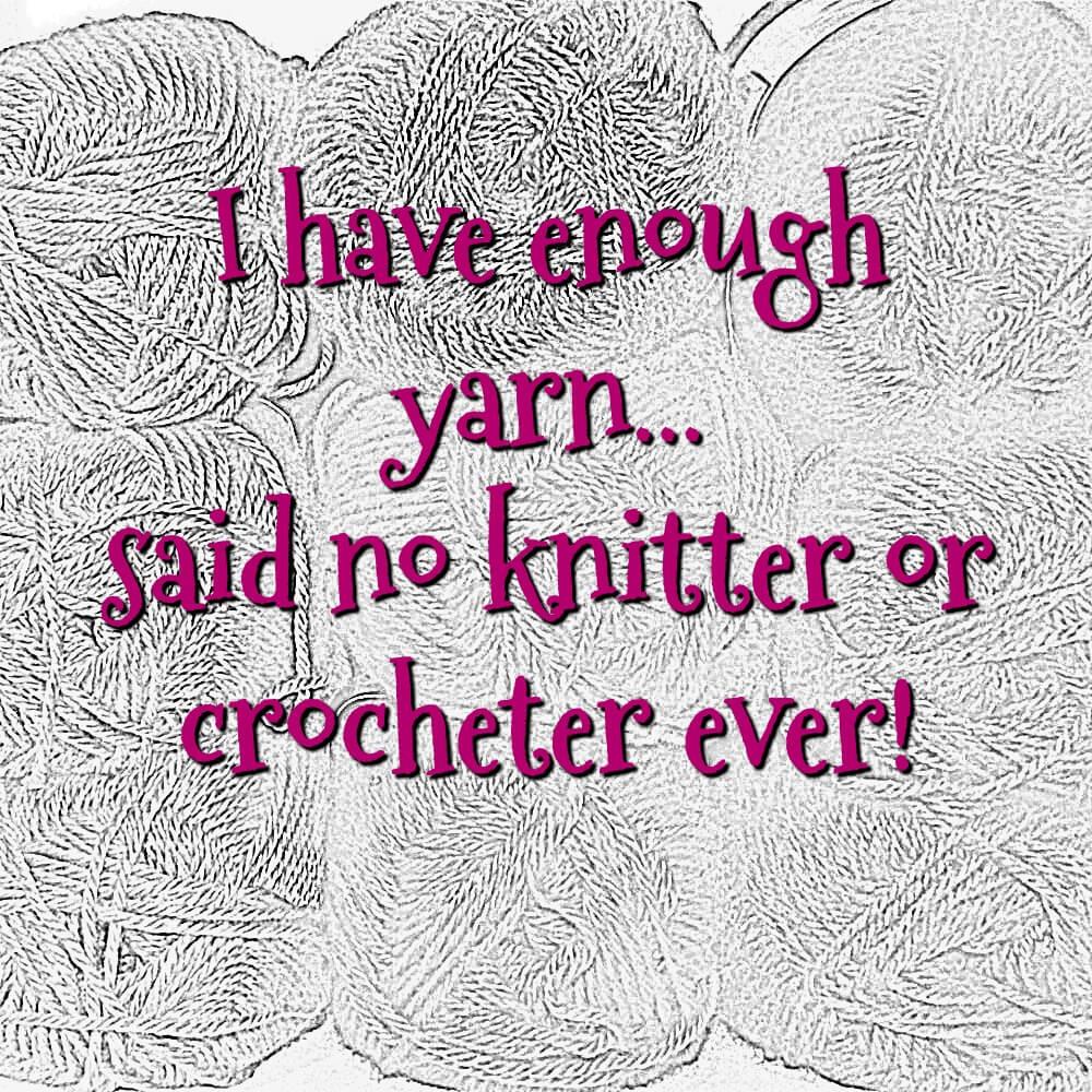 enough yarn...never
