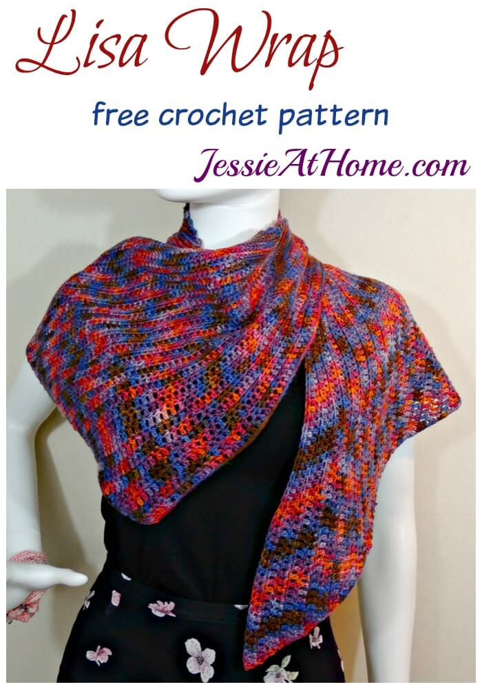 Lisa Wrap free crochet pattern by Jessie At Home